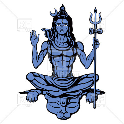 400x400 Hindu God Sitting In Pose Meditation