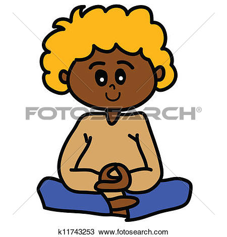 450x470 Meditating Boy Clipart Collection