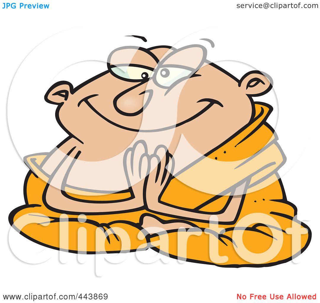 1080x1024 Royalty Free (Rf) Clip Art Illustration Of A Cartoon Meditating