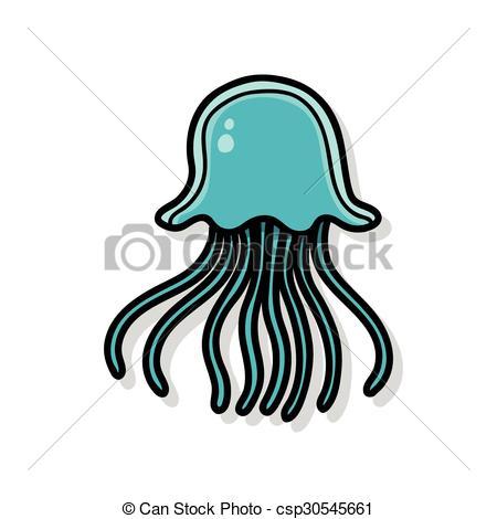 450x470 Garabato, Animal Mar, Medusa Vector Clip Art