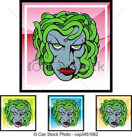 450x469 Medusa Vector Illustration