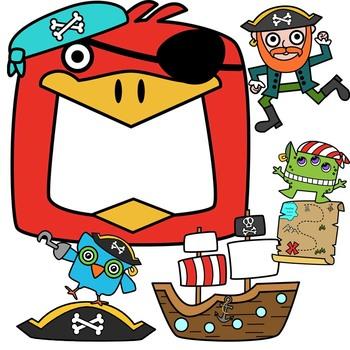 350x350 Pirate Mega Bundle Clipart By Splashy Pix Teachers Pay Teachers