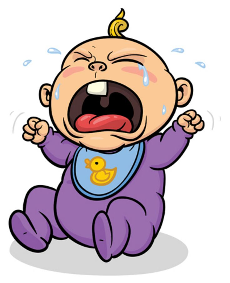 736x908 Cartoon Picture Of Baby Crying