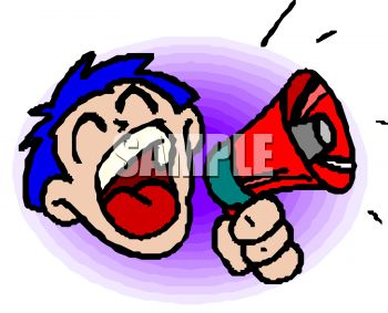 350x283 Royalty Free Clip Art Image Boy Or Man With Big Mouth Making