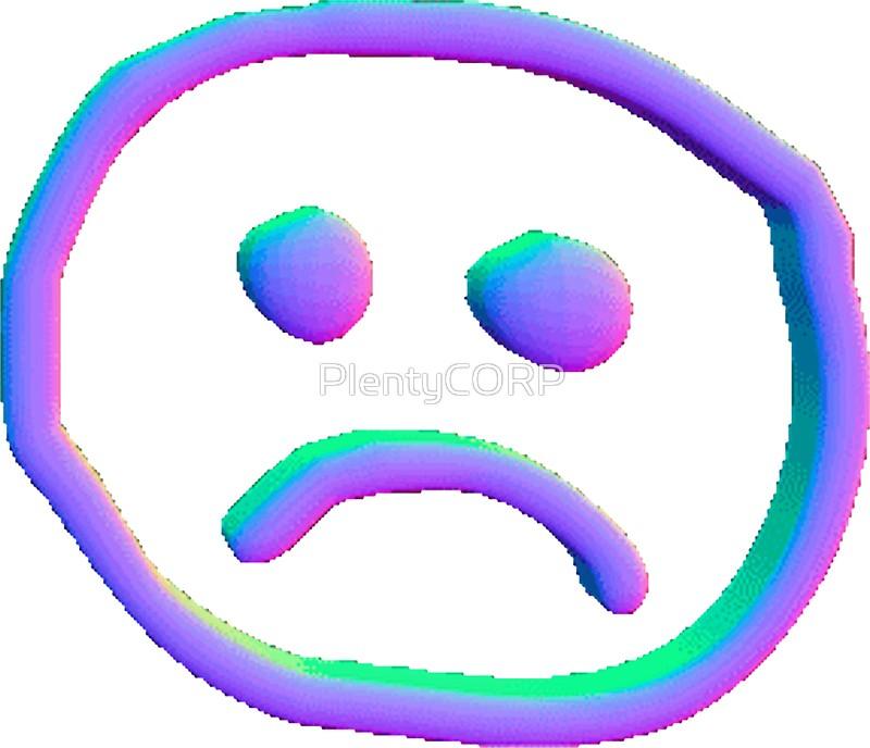 800x688 Unusual Ideas Design Sad Face Vaporwave Sad Face Stickers By