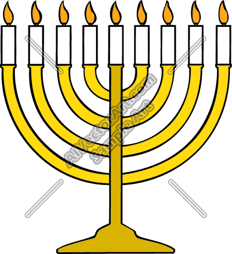 457x500 Menorah Clipart And Vectorart Holidays Graphics