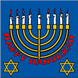 304x304 Clip Art Happy Hanukkah Color I Abcteach