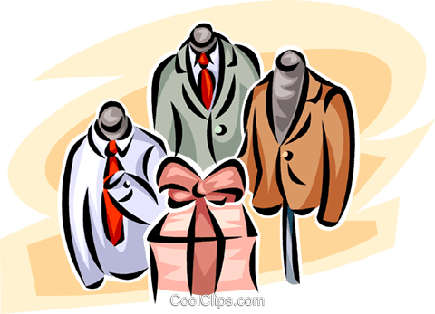 480x347 Men's Clothing Retail Garment Display Royalty Free Vector Clip Art