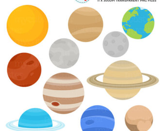 340x270 Cute Solar System Clipart Set Planets Clip Art Space