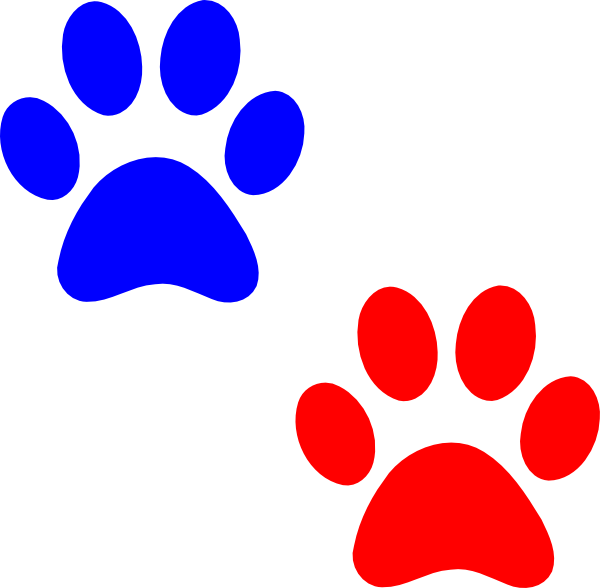 600x588 Paw Logo Blue Red Clip Art