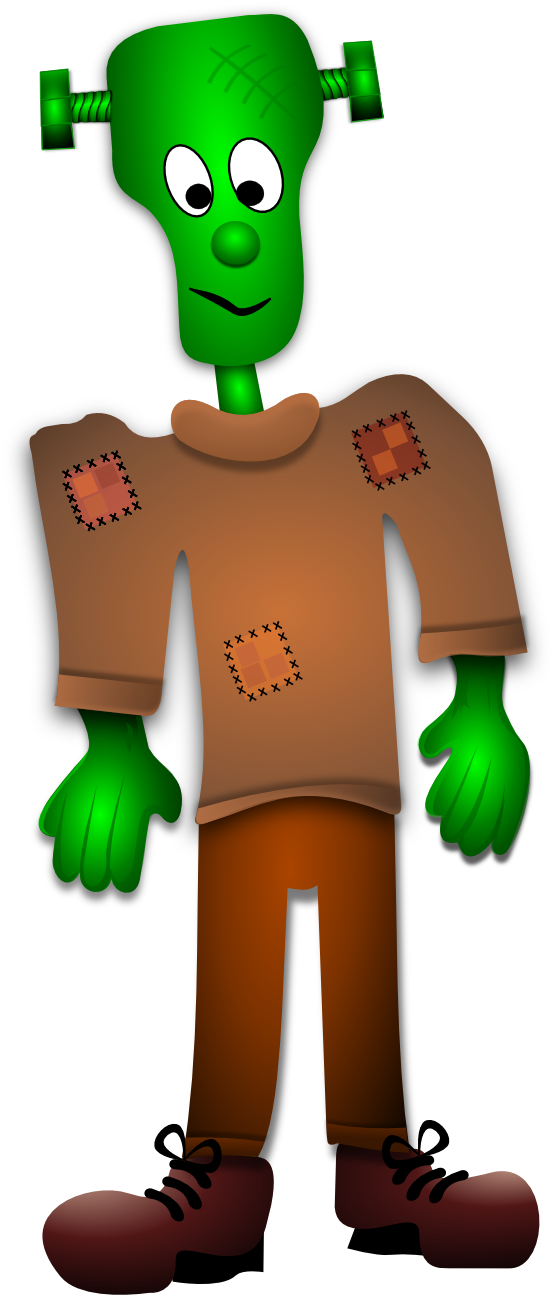 555x1297 Clip Art Little Frankenstein By Merlin 2525