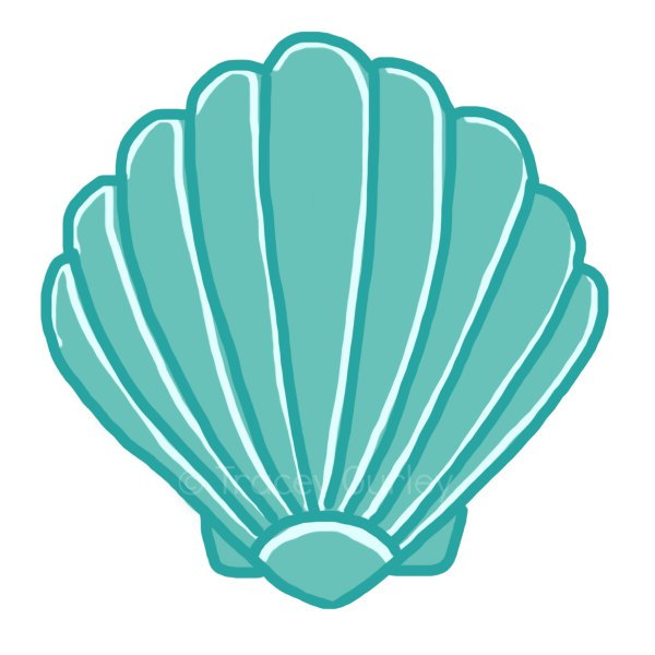 600x600 Mermaid Clipart Seashell