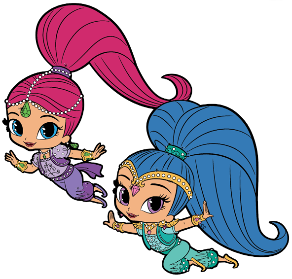 592x566 Shimmer And Shine Clipart Cartoon Clip Art