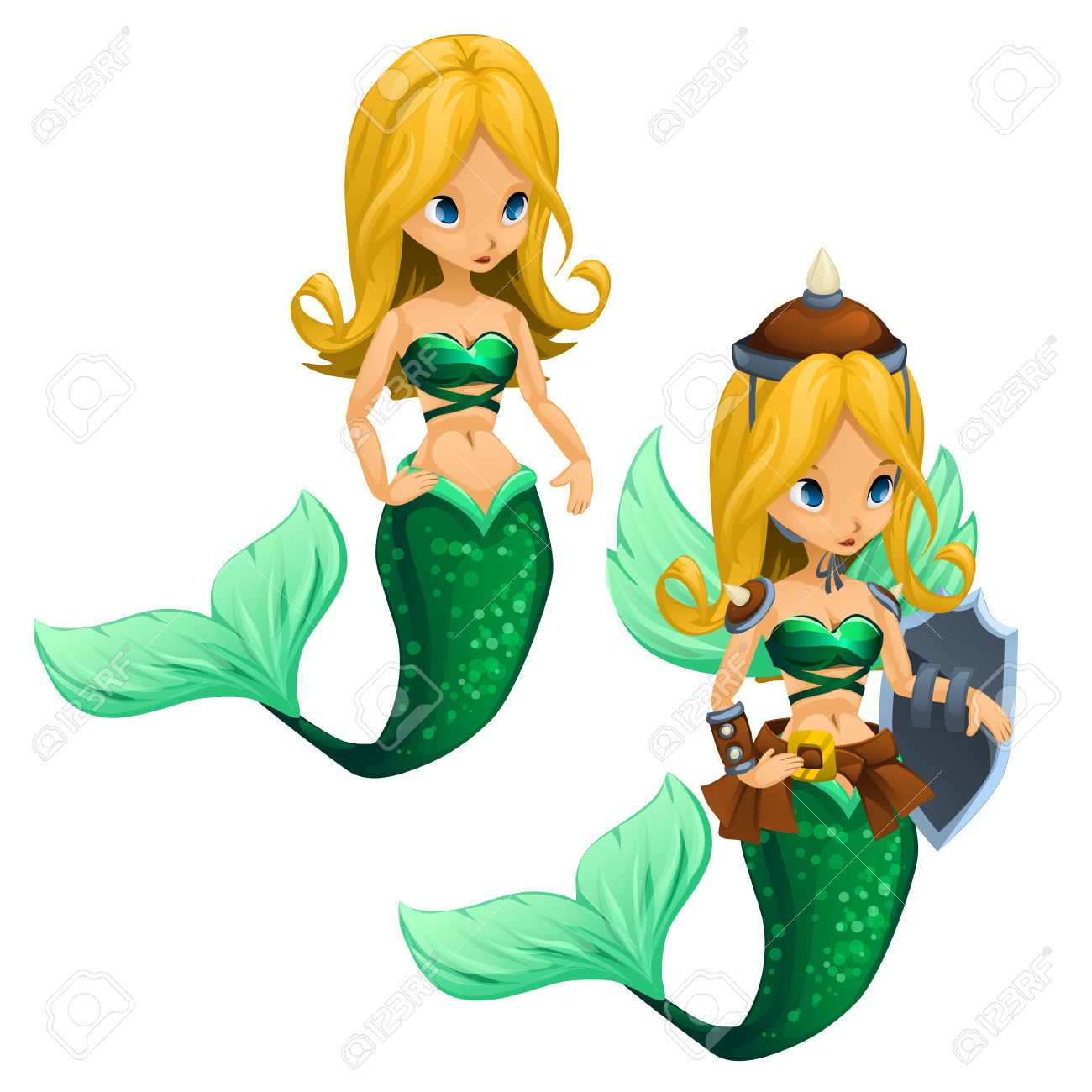 1300x1300 Blonde Clipart Cartoon Mermaid