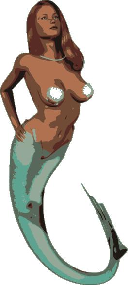 264x586 Free Vector Mermaid Clip Art Clipart Panda
