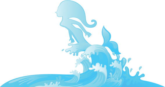 568x301 Mermaid Tail Coming Out Of Water Clipart