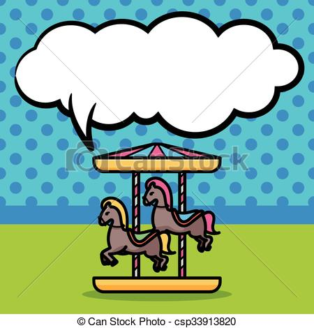 450x470 Merry Go Round Doodle Vector Illustration