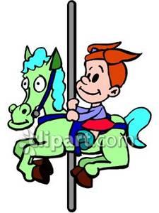 225x300 Toddler Girl Riding Merry Go Round Horse
