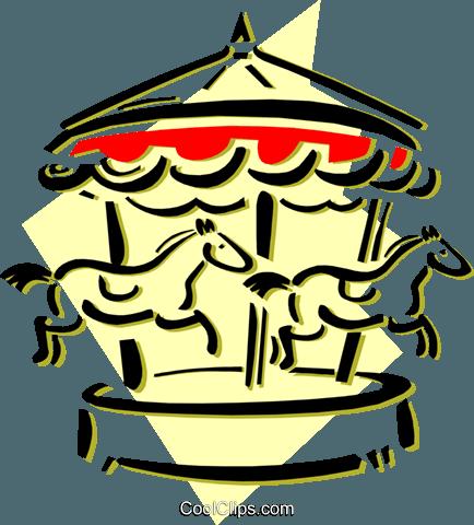 434x480 Merry Go Round Royalty Free Vector Clip Art Illustration Ente0114