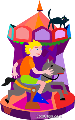 300x480 Merry Go Round Royalty Free Vector Clip Art Illustration Vc007404