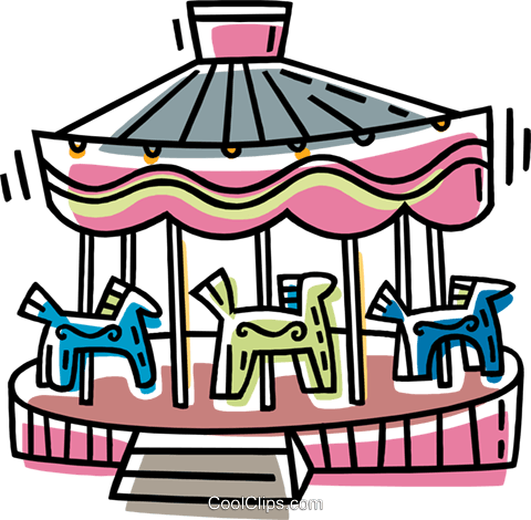 480x470 Merry Go Round Royalty Free Vector Clip Art Illustration Vc033421
