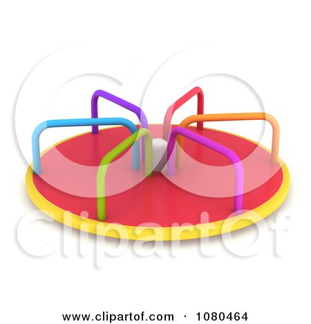 450x470 Clipart 3d Colorful Playground Merry Go Round Ride