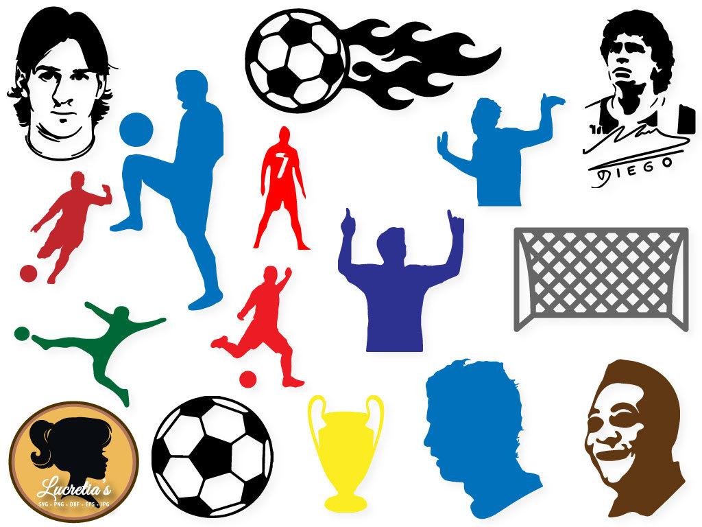1024x768 Soccer Svg, Soccer Dxf, Soccer Clipart, Messi Silhouette, Maradona