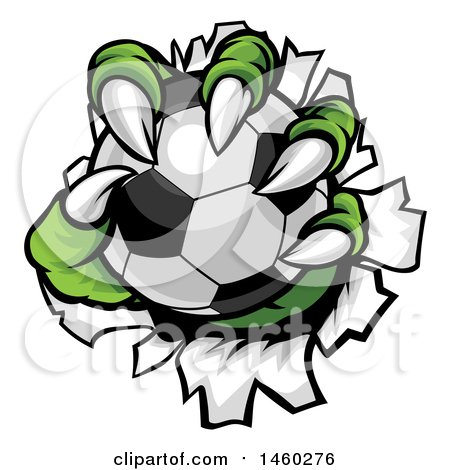 450x470 Clipart Of Green Monster Claws Ripping Through Metal