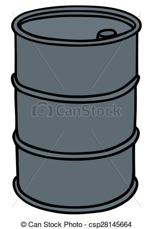 314x470 Hand Drawing Of A Blue Sheetmetal Barrel Clip Art Vector