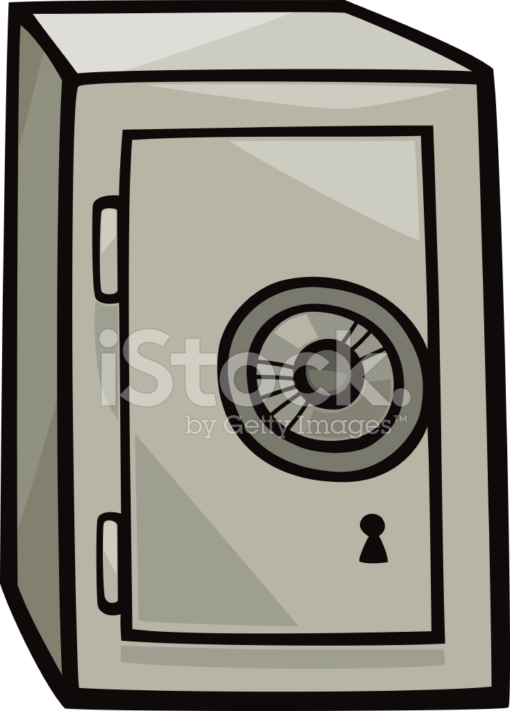 734x1024 Safe Clip Art Cartoon Illustration Stock Vector