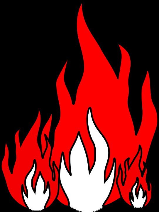 542x720 Burn Clipart Small Fire
