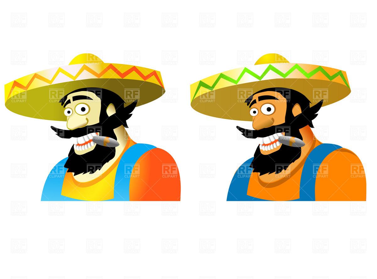 1200x889 Mexican In Sombrero Royalty Free Vector Clip Art Image