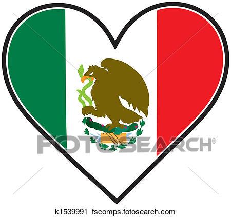 450x423 Spectacular Idea Mexican Flag Clipart Of Mexico Heart K1539991