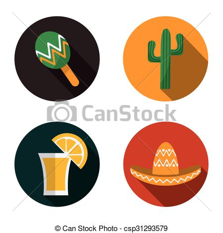 450x470 Mexican Culture Design Mexican Concept With Culture Icons