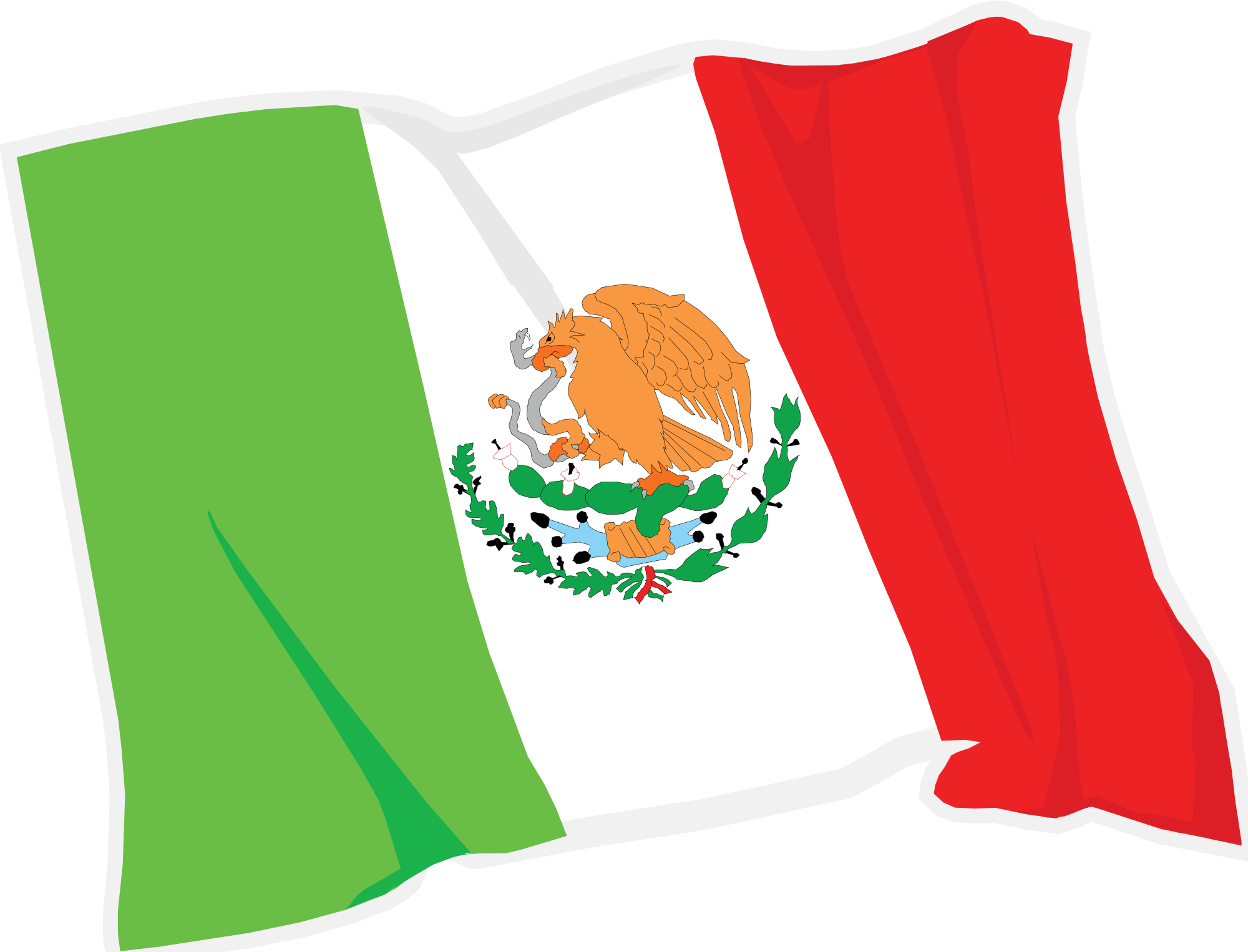 mexican flag clipart at getdrawings com free for personal use rh getdrawings com waving american flag vector free