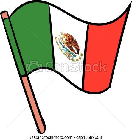 443x470 Flag Of Mexico Icon Cartoon. Flag Of Mexico Icon In Cartoon