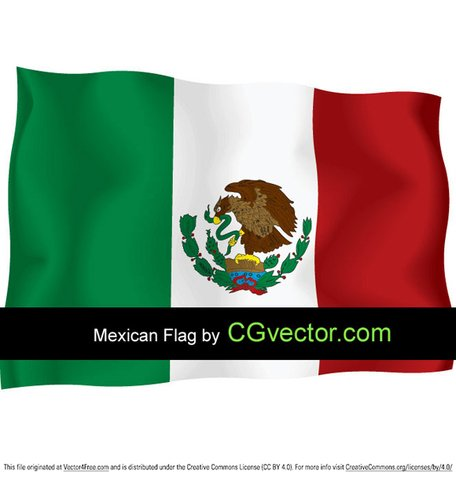 456x478 Free Mexico Independence Day Flying Flag Clipart And Vector