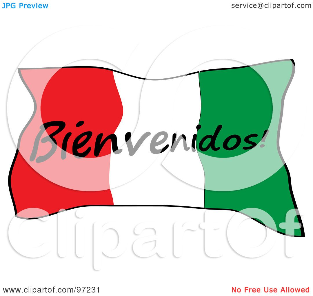 1080x1024 Royalty Free (Rf) Clipart Illustration Of A Mexican Bienvenidos