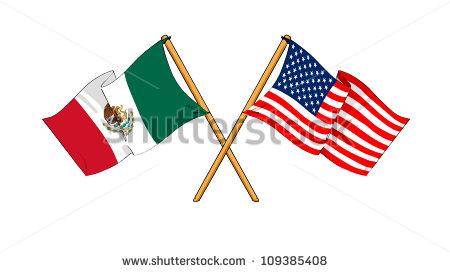 450x272 Us Flag Mexian Flag Clipart