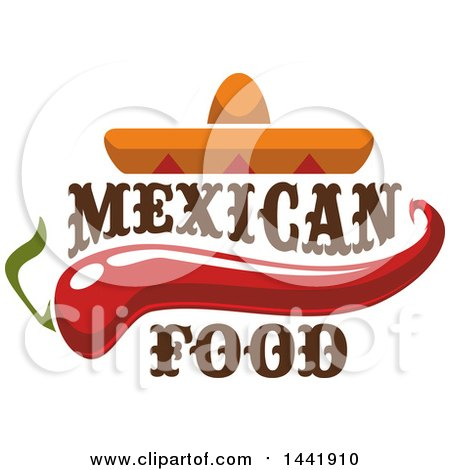 450x470 Clipart Graphic Of A Mexican Food Design With A Sombrero, Taco