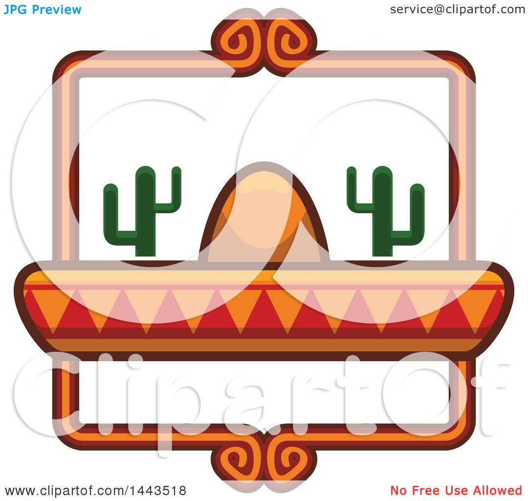 1080x1024 Clipart Of A Mexican Food Logo Design With A Sombrero Hat