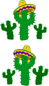172x300 Fiesta Borders Clip Art Cactus Mexican Hat