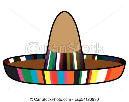 450x357 Isolated Mexican Hat Image Vector Illustration Design.