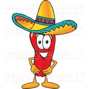 300x300 Photostock Vector Happy Mexican Chili Pepper Vector Clip Art