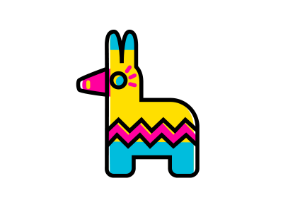 400x300 Mex~icons Pinata By Inkbyte Studios