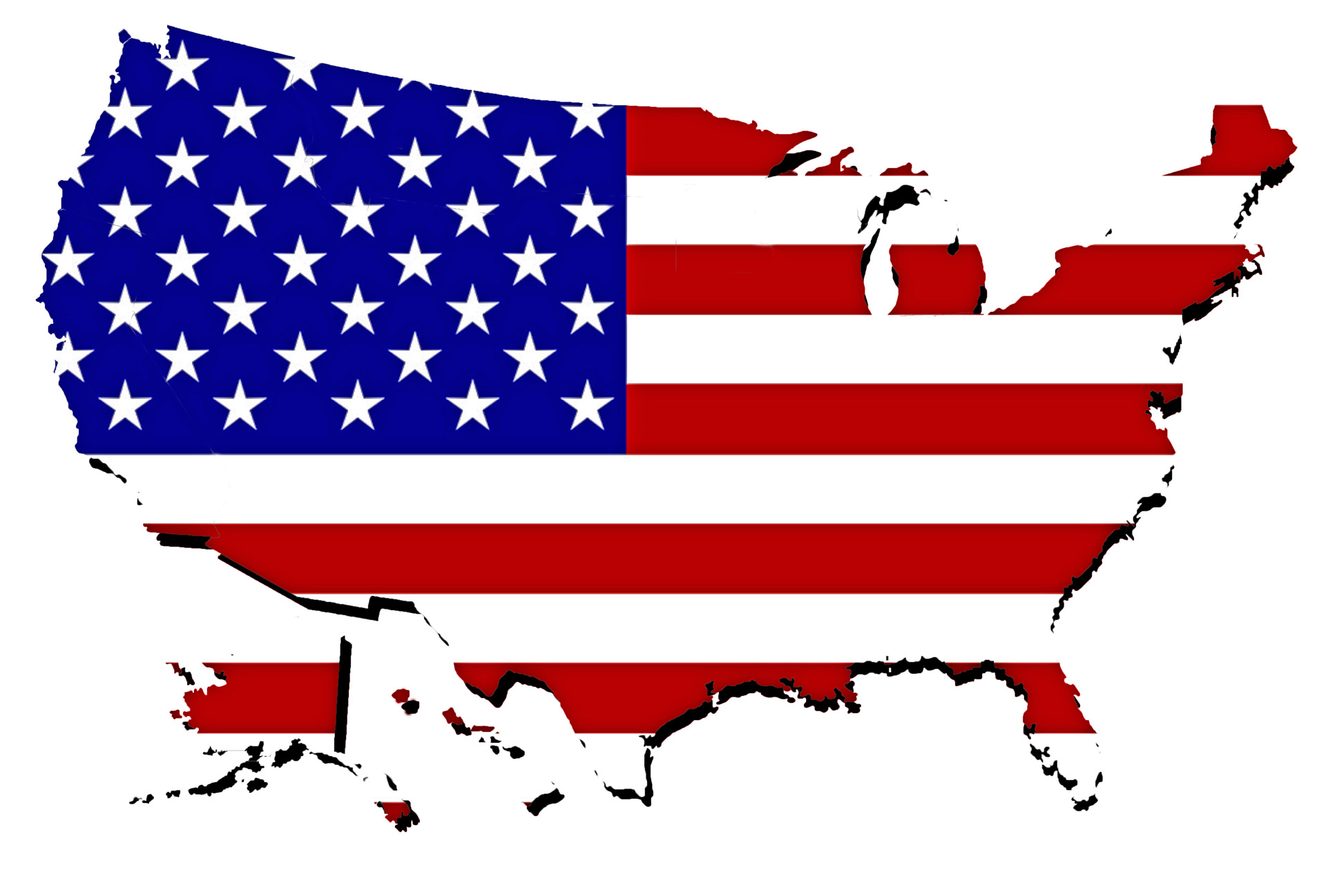 1920x1272 United States Map Clipart