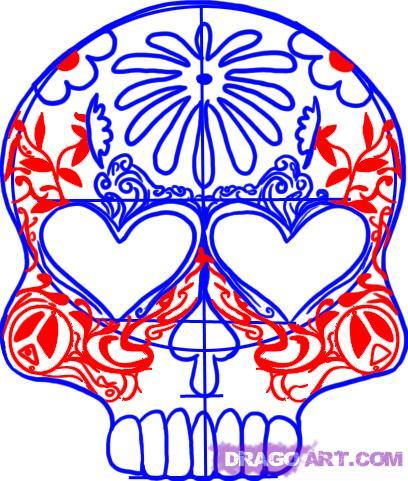 408x481 Drawn Sugar Skull Simple Sugar