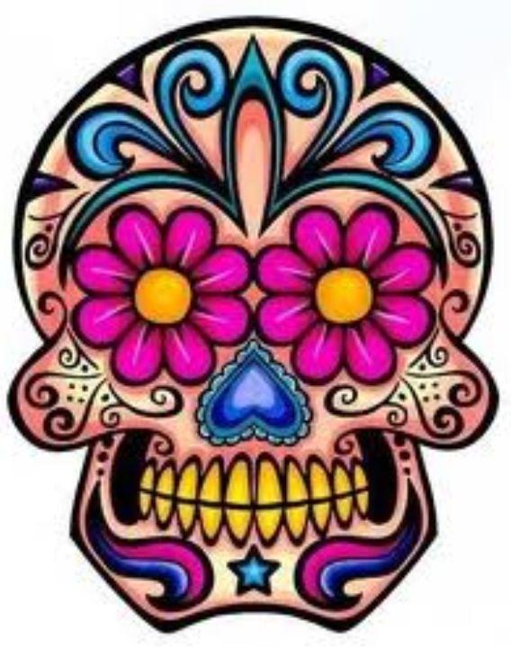 568x719 Sugar Skull Skulls Sugar Skulls And Paintings