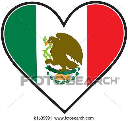 450x423 Clipart Mexico Clipart Of Mexico Heart Flag K1539991 Search Clip