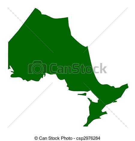 450x470 Map Oftario Province Or Territory In Canada, Isolated